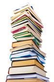 Big pile of books isolated on white background — Stok fotoğraf