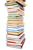 Big pile of books isolated on white background — Stock Photo