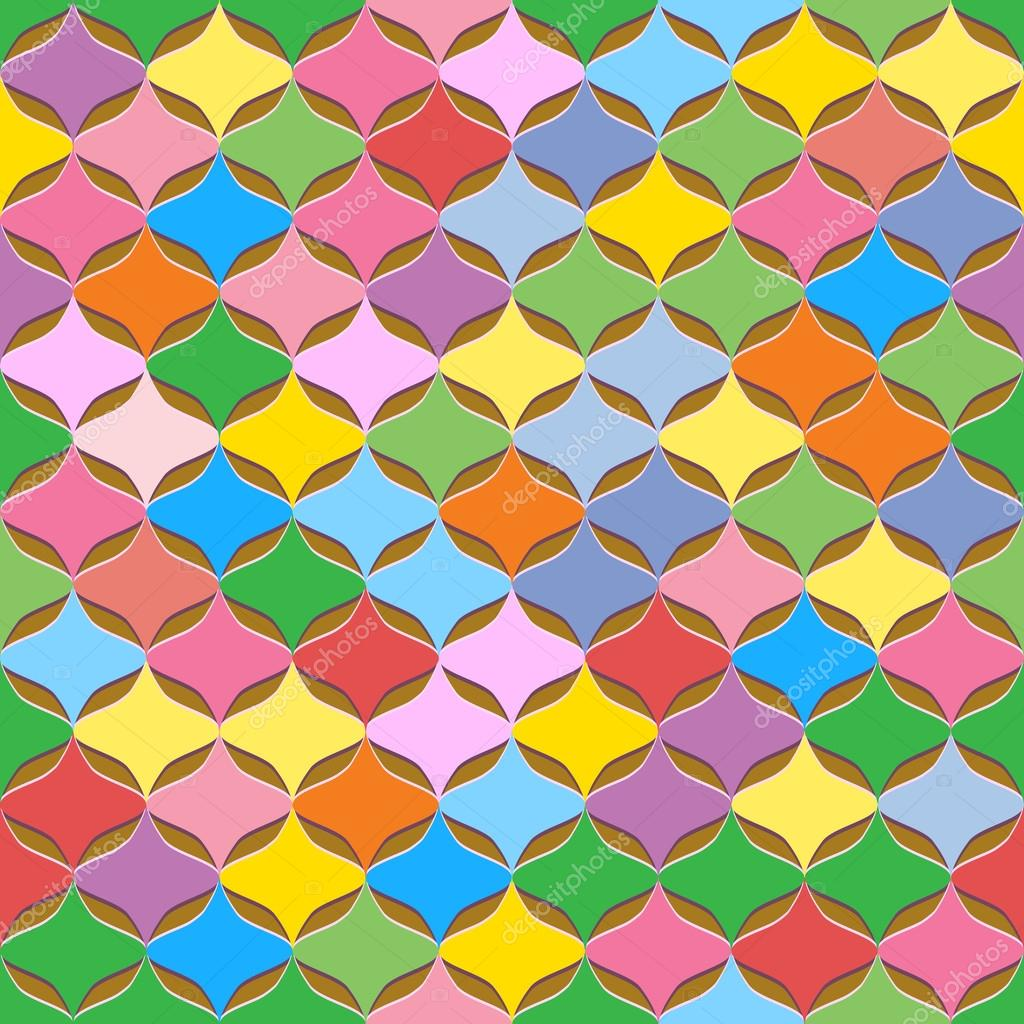Vector seamless colorful abstract geometric pattern for Object pool design pattern