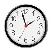 Clásico redondo reloj de pared aislado en blanco. vector eps10 illustr — Vector de stock