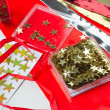 Christmas stars for decoration — Stock Photo