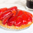 Strawberry small tart - Stock Photo