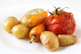 Baked vegetables — Stock Photo