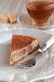 Chocolate and almond cake — Stockfoto