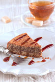 Chocolate and almond cake — Stock Photo
