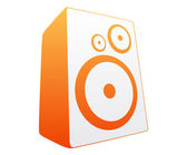 Orange loud speaker — Stock Vector