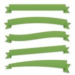 Green retro ribbons — Stock Vector #13395364