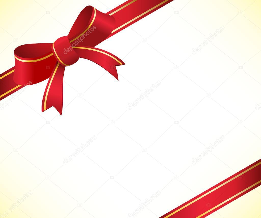 weihnachten hintergrund mit roter schleife und band. Black Bedroom Furniture Sets. Home Design Ideas