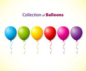 Collection of color balloons — Stock Vector