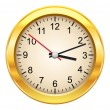 Gold clock — Vettoriali Stock