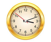 Gold clock — Vector de stock