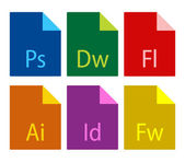 File type icons — Stock Vector