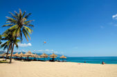 Vietnam Nha Trang beach scenery under the blue sky — Stock Photo