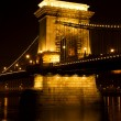 Széchenyi Chain Bridge in Budapest, Hungary — Stock Photo