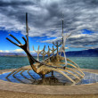 Stock Photo: Solfar Suncraft in Reykjavik in HDR, Iceland