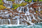 Hraunfossar waterfall in HDR, Iceland — Stock Photo