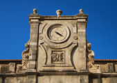 Ancient temple clocks, Dubrovnik — Stok fotoğraf