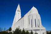Modern church in Reykjavik, Iceland — Stock Photo