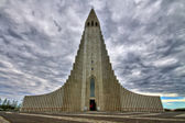 Modern church in Reykjavik in HDR, Iceland — Stock Photo