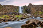 Oxararfoss waterfall in HDR, Iceland — Stock Photo