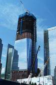 Freedom Tower under construction, New York — Zdjęcie stockowe