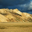 Stock Photo: Landmannalaugar mountains at sunset, Iceland