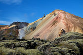 Landmannalaugar colored rainbow mountains, Iceland — Zdjęcie stockowe