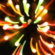 Stock Photo: Blurred Christmas ligths background