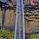 wodospad svartifoss w hdr, Islandia — Zdjęcie stockowe