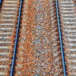 Railway background in HDR — Stock Photo