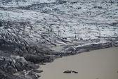 Morrena del glaciar de skaftafellsjokull, parque nacional de skaftafell, islandia — Foto de Stock