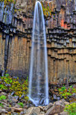 Svartifoss waterfall in HDR, Iceland — Stock Photo
