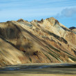 Landmannalaugar colored rainbow mountains, Iceland — Stock Photo #18161863