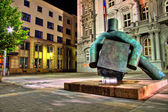 Statue of justice in HDR, Brno — Stock Photo