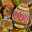 Easter homemade gingerbread background — Stock Photo