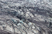 Skaftafellsjokull glacier moraine, Skaftafell National Park, Iceland — Stock Photo