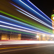 Big Ben with blurred lights at dusk, London — Stock Photo