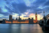 Westminster Abbey with Big Ben, London — Stock Photo