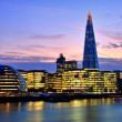 London Cityscape with New City Hall and The Shard — Stock Photo