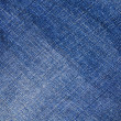 Blue denim jeans texture, background — Stock Photo