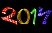 New Year 2014 Blurred Raindow Lights — Stock Photo