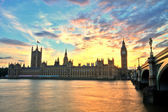 Westminster abbey med big ben, london — Stockfoto