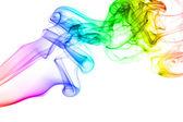 Rainbow smoke isolated on white background — Stock Photo