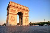 Arc de triomphe at Sunset, Paris — Stock Photo