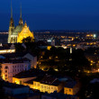 Illuminated St. Peter and Paul Cathedral at night, Brno — Stock Photo #51253577