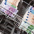 Money laundering with euronotes — Stock Photo