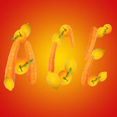 Multivitamin symbol ace — Stock Photo