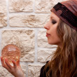 Side view of a female fortune teller — Stock Photo