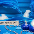 Stock Photo: Blue background for mothers day