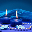 Stock Photo: Romantic blue background for holidays